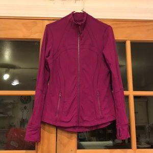 Raspberry lululemon define jacket